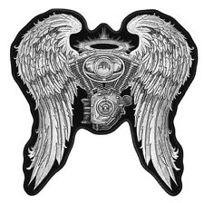 JUMBO BIKER ANGEL WINGS EMBROIDERED BACK PATCH JBP26 iron on sew bikers patches