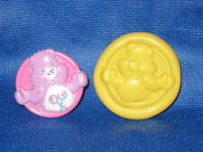 Care Bear Push Mold Flexible Resin Clay Candy Food Safe Silicone  #670 Soap