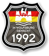 Wolfsburg Gemacht 1992 Made in Protezione Tedesco Auto Camper Furgone Adesivo