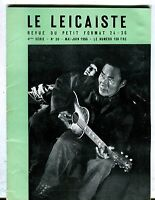 Le Leicaiste French Magazine May/June 1956 Claude Pingault VG 040817nonjhe