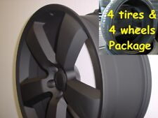 "4) 20"" Tires Wheels Package Set S Black Dodge Challenger Charger SRT8 Magnum 300"