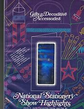 Gifts & Decorative Accessories 1986 National Stationery Show Highlights Program