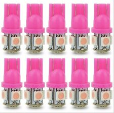100pcs Pink T10 5 SMD 5050 LED Car Side Wedge Tail Light Lamp 192 W5W