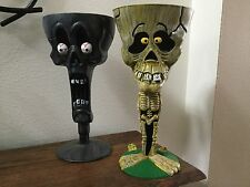 2 Skeleton Plastic Goblets Halloween Party Cups