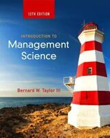 Introduction to Management Science by Bernard W., III Taylor (Ebook/No Hardcopy)