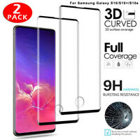 For Samsung Galaxy S10 Plus S10e 3D Curved Tempered Glass Full Screen Protector