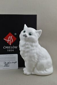 Cmielow Cat Lost in Thought Porcelain Figurine. Boxed with Certificate