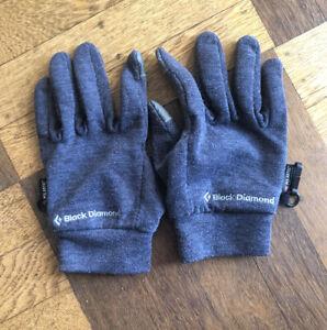 Black Diamond Power Weight Wool Blend Liner Glove Sz M Polartec