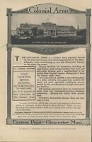 1906 The Colonial Arms Hotel Gloucester Massachusetts Resort Vintage Magazine Ad