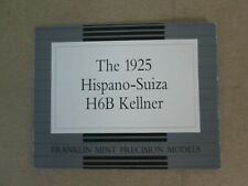 Franklin Mint Paperwork 1925 Hispano-Suiza H6B Kellner