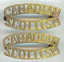 WW2 CANADIAN ARMY CANADIAN SCOTTISH C Scot R BRASS SHOULDER TITLES BADGES CANADA