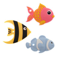Silicone Fish Teether Teething Pendant Carrier Car Seat/Chew Toy