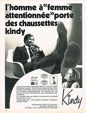 PUBLICITE ADVERTISING 035  1971  KINDY   chaussettes homme