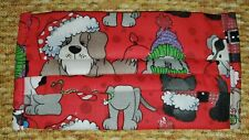 Handmade adult face mask cotton 100% Christmas dogs