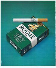 PUBLICITE ADVERTISING 104 1977 ROYALE menthol cigarettes