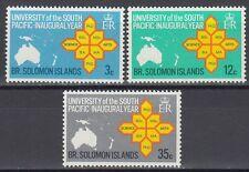 Solomon Islands 1969 ** Mi.182/84 Universität University Landkarte Map [sq6107]