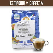 128 Capsule Gattopardo CAPPUCCINO latte e caffe Compatibili Sistema Uno System