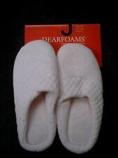 Dearfoams Women's Pink Microfiber Velour Clog Slipper Size 8 NEW