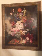 "Karl Bartle Original Oil Painting ""Still Life"" Floral"