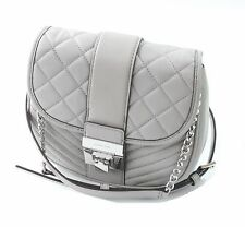 Michael Kors Elisa Quilted Leather Shoulder / Cross Body Bag Pearl Grey RRP £240