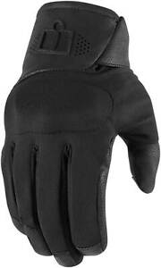 Icon Tarmac 2 Gloves - Motorcycle Street Riding Textile Leather Waterproof Mens
