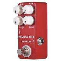 Mosky Mini Guitar Effect Pedal Mini Crunch Red Distortion Guitar Pedal True G2X1