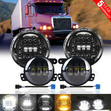 For Freightliner Century Class 7'' LED Projector Headlight Hi/Lo & 4'' Fog Light