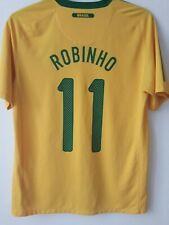 BRAZIL NATIONAL TEAM 2010/2011 HOME FOOTBALL SHIRT JERSEY ROBINHO 11#