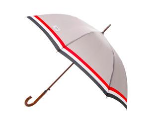 Thom Browne x Colette Umbrella Wooden Handle Grey Signature Stripes New