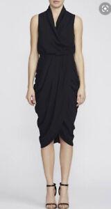 Camilla Marc Navy Draped Bridal Sleeveless Dress New Tags 10