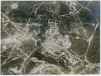Gr. Orig-Pressephoto, 1. Weltkrieg. Luftaufnahme von Verdun um 1917