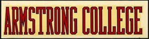 Armstrong State College _ORIGINAL_ RARE 1950's Decal vtg Georgia NCAA sticker
