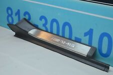 00-06 W220 MERCEDES S55 S500 REAR RIGHT PASSENGER DOOR STEP SILL COVER AMG LOGO