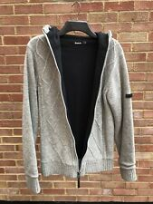 Fleece Lined Bench Knitted Hoodie - Excellent Condition (RRP £75)