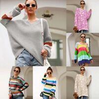 Long Sleeve Sweater Knit Shirt Tops Knitwear Jumper Casual T-Shirt Knitted