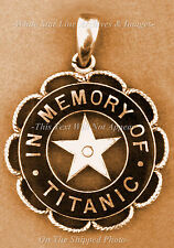 Photo: 5x7: Sepia: Pin Given By White Star Line Co. To Surviving Titanic Crew