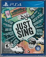 Just Sing (Sony PlayStation 4, 2016) **NEW**