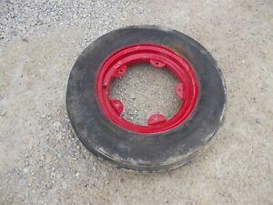 "Oliver Super 77 Tractor Orignal front rim & Harvest King 6.00 x 16"" 90% trd tire"