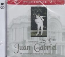 CD - Juan Gabriel NEW Celebrando 25 Anos Palacio De Bellas Artes  2 CD'S
