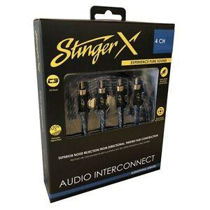 Stinger X1 Series Premium Audio RCA Interconnects Four Channel 17 Feet XI1417
