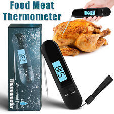 Food Meat Thermometer Instant Read Digital Foldable Kitchen Cooking BBQ Grill US