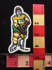 Embroidered Felt HOCKEY Player Patch YELLOW & GREEN Jersey Version 733