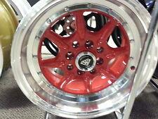 16X7 4 new Rims Style # 8006 Red Machine Lip White Diamond Edition wheels