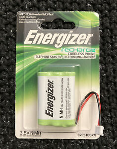 Energizer ERP510GRN 3.6V MiMH Rechargable Battery for Select Cordless Phones
