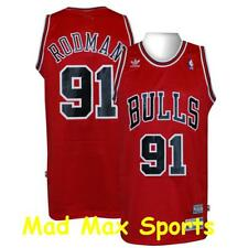 DENNIS RODMAN Chicago BULLS Red THROWBACK Swingman HARDWOOD CLASSIC Jersey Sz XL