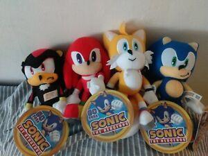 Sonic the Hedgehog Plush Doll Stuffed Animals Soft Toy *  SET OF 4  8 inch plush