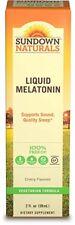 Sundown Melatonin Liquid Cherry Flavor 2 oz : 3 packs