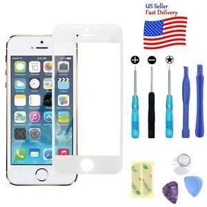 Replacement Front Screen Glass Lens+Repair Kit for iPhone SE/5/5S 6 6s 8 7 Plus