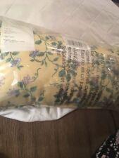 """Longaberger """" Yellow Vine Cord Pillow�Toss Pillow 9 X 17 Rare & New ��"""