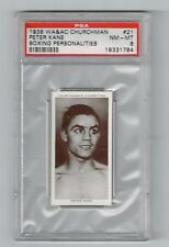 1938 WA&AC Churchman Boxing Personalities, Peter Kane PSA 8 NM/MT